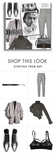 """Check It: Plaid"" by hanicelma ❤ liked on Polyvore featuring Trish McEvoy, Alexander Wang, Balenciaga, Joie and Hanky Panky"