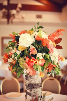 Floral and Foliage Autumn Centerpieces. Bright and Colorful Classic Fall Wedding. Wedding Reception Decorations, Wedding Centerpieces, Wedding Table, Fall Wedding, Wedding Ideas, Autumn Centerpieces, Countryside Wedding, Beautiful Flower Arrangements, Wedding Coordinator