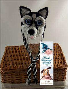 Crochet Pattern 083  Siberian Husky Beanie Hat 2  by desertdiamond, $5.95