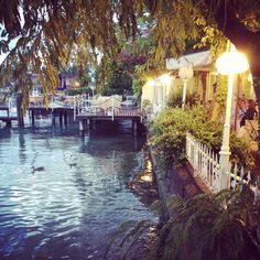 Dusk in the gorgeous Lake Garda town of Sirmione, Lake Garda, Italy. BEYOND romantic.