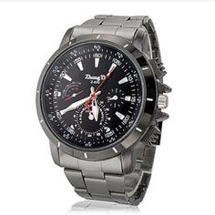 Men's Analog Wrist Watch (Black) ZY-01