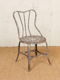 Chair 'Lugano' rusted grey patina knock down.  Chehoma