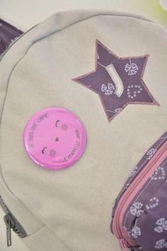 Sac-à-dos couture Made by CyCy pour la rentrée des enfants. Tissu Frou-Frou