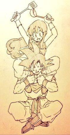 Ser romântico não é muito o estilo do Goku, mas ainda é fofo