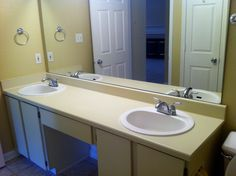 Bathroom in our 1/1 Penthouse. Don't you love the double sinks? #azaleaplace