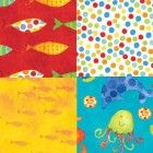 This bright & fun NEW fabric collection just arrived from Clothworks fabrics, designed by Sue Zipkin, this is 'Sea Shanty' :) $10.99 per yard...