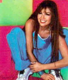 Thalia on the set of 'Arrasando/It's My Party' music video, 2000