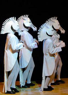 Cinderella white horse mask