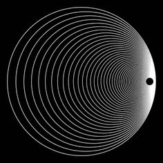 Create your own optical illusion with Op-Art Art Optical, Optical Illusions, Experimental, Virtual Art, Circle Pattern, Op Art, Fractals, Wall Art, Cool Stuff