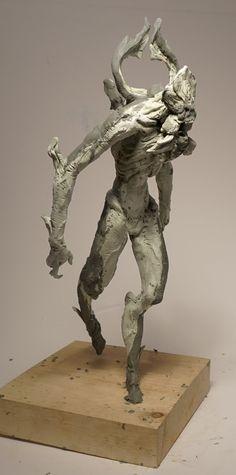 Alien ripoff/ flower faced monster, Elliot Mallon on ArtStation at https://www.artstation.com/artwork/alien-ripoff-flower-faced-monster