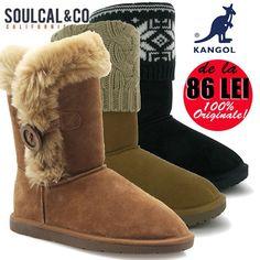 Superoferte online la cizme UGG dama din piele intoarsa Kangol si SoulCal California, profita si tu!