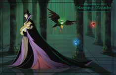 Aurora & Maleficent [as a friendly villain feat. Diablo, Flora, Fauna & Merryweather] (As Friendly Villains by Precia-T Emo Disney, Arte Disney, Disney Fan Art, Disney Love, Disney Stuff, Disneyland Princess, Disney Princess Aurora, Sleeping Beauty Maleficent, Disney Sleeping Beauty