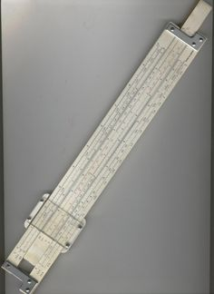 Slide Rule.  I loved working with it.  Ah...engineering math, ever so useful in my life!!!