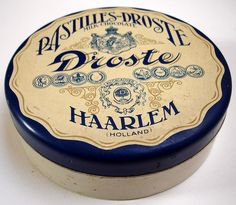 vintage chocolates tin | Pastilles-Droste Milk Chocolate | Droste Haarlem (Holland) | hier houd ik van | flickr