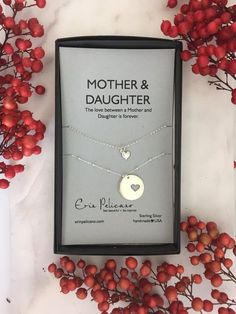 Mother Daughter Necklace Set Mothers Necklace Mother of the Bride Gift Adoption Gift Mother of the Bride Necklace - Christmas gift ForMom. Mother Daughter Necklace Set, Our BEST SELLING gift for mom in sterling silv - Mother Of The Bride Necklaces, Mother Daughter Jewelry, Mother Necklace, Mom Daughter, Christmas Gifts For Friends, Gifts For Mom, Mom Birthday Gift, Birthday Cards, Christmas Birthday