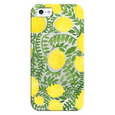 iPhone 6 Plus/6/5/5s/5c Bezel Case - The Lemon Tree ($35) ❤ liked on Polyvore featuring accessories, tech accessories, iphone case, iphone cover case, apple iphone cases and iphone cases