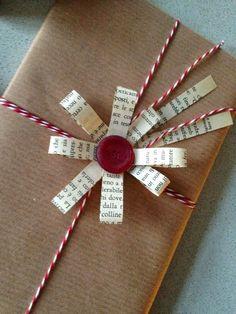 Per chi ama fare i pacchetti..idea di riciclo creativo