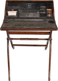 An Edwardian Walnut Folding Campaign Desk, late - Feb 2016 Campaign Desk, Campaign Furniture, Drafting Desk, Furniture Making, 21st, Auction, Victorian, English, Country