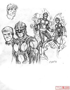 Nova sketch art by Cory Smith Nova Sam Alexander, Cory Smith, Marvel Heroes, Art Sketches, Comics, Classic, Comic Art, Art, Derby