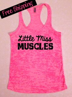 Fitness Workout Tank...Little Miss Muscles by BlessonsApparel on Etsy, $26.00