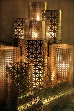 DIY luminaries. http://www.projectwedding.com/ideas/402130/diy-candle-luminary-centerpieces