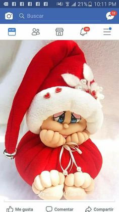 Handmade Christmas Crafts, Christmas Projects, Felt Crafts, Crafts To Make, Felt Patterns, Sewing Dolls, Knitted Dolls, Soft Dolls, Soft Sculpture