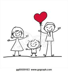 Immagine vettoriale stock 179672744 a tema Hand Drawing Cartoon Character Happy Family (royalty free) Drawing Cartoon Characters, Cartoon Girl Drawing, Character Drawing, Cartoon Drawings, Family Drawing, Drawing For Kids, Doodle Drawings, Easy Drawings, Les Doodle