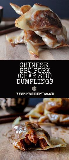 Chewy & crispy bite sized dumplings filled with sweet and sticky Chinese BBQ pork