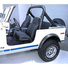 1976-2002 Jeep CJ/YJ/TJ Standard Front Bucket Seat, Black 13401.01 #RuggedRidge