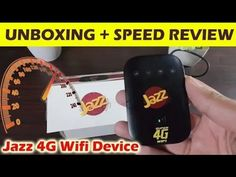 Jazz 4G WiFi Device Unboxing + Speed Test Review 🔥🔥🔥 - YouTube Video Surveillance Cameras, Smartphone Reviews, Speed Test, Security Cameras For Home, Wifi, Jazz, Personalized Items, Youtube, Jazz Music