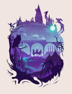 Arte geek e inspirada na cultura pop, por Jeff Lanvegin ⋆ Geekness Harry Potter Fan Art, Harry Potter Wizard, Harry Potter Drawings, Harry Potter Books, Harry Potter Universal, Harry Potter Memes, Harry Potter Hogwarts, Harry Potter Poster, Harry Potter Calendar