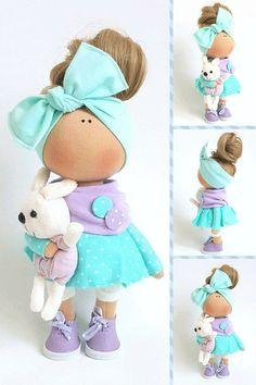 Textile Doll Tilda Doll Handmade Doll Muñecas Blue Doll Interior Doll Cloth Soft Doll Nursery Doll Poupée Fabric Doll Bambole by Tanya E Waldorf Dolls, Soft Dolls, Summer Baby, Fabric Dolls, Doll Patterns, Baby Dolls, Dolls Dolls, Doll Clothes, Diy And Crafts