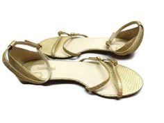 Sandals Max Studio Gold Strappy Size 7 M #MaxStudio #AnkleStrap #Casual