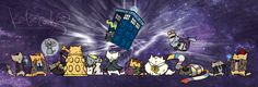 Doctor Who Cats (by Katie Cook)