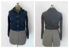 Vintage 1970s Denim Jacket Cropped Short Miss HIS by rileybella123, $34.00