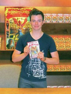 Chris Colfer at the book signing in Skokie, IL on July 12, 2014