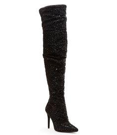 65b0a94b32 Jessica Simpson Luxella Hotfix Embellishment Over the Knee Boots Jessica  Simpson Boots