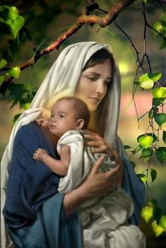 Pictures Of Mary, Jesus Pictures, Jesus Christ Images, Jesus Art, Blessed Mother Mary, Blessed Virgin Mary, Catholic Art, Religious Art, Jesus E Maria