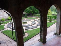 Jardín geométrico del Monasterio de Yuste, Cáceres. | Matemolivares