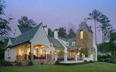 STONE WRAPPED COLUMNS   Christopher Architects » LOGAN MARTIN HOUSE