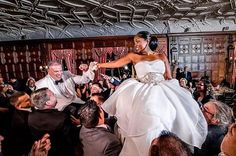 Beautiful interracial couple embracing their cultural heritages in their wedding celebration #love #wmbw #bwwm #swirl