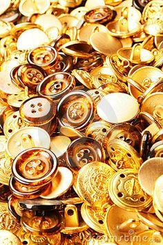 Color Dorado - Gold!!!  Gold buttons by Marija Mussorina, via Dreamstime