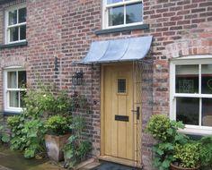 Over Door Porches - Door Canopy Designs - Metal Planters Over Door Canopy, Door Canopy Porch, Porch Doors, Porch Awning, Entry Doors, Entryway, Porch Canopy Designs, Porch Designs Uk, Garden Trellis Panels