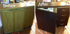 Painting over a horn cabinet!