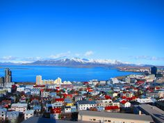 view of Reykjavic from top of Hallgrims Church, Iceland 2012