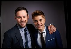 Justin Bieber and Scooter Braun.. justin is. gorgeous. .... .. .