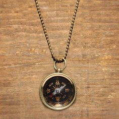 Compass Necklace Black, $25, now featured on Fab.