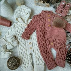 Baby Outfits Newborn, Baby Boy Outfits, Kids Outfits, Knitting For Kids, Baby Knitting Patterns, Handmade Baby, Handmade Clothes, God Made Girls, Knit World