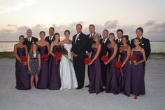 Purple & Red Wedding - love the red flowers against the plum