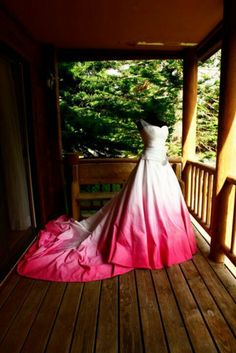 dip dyed...woould love to do this to my wedding dress